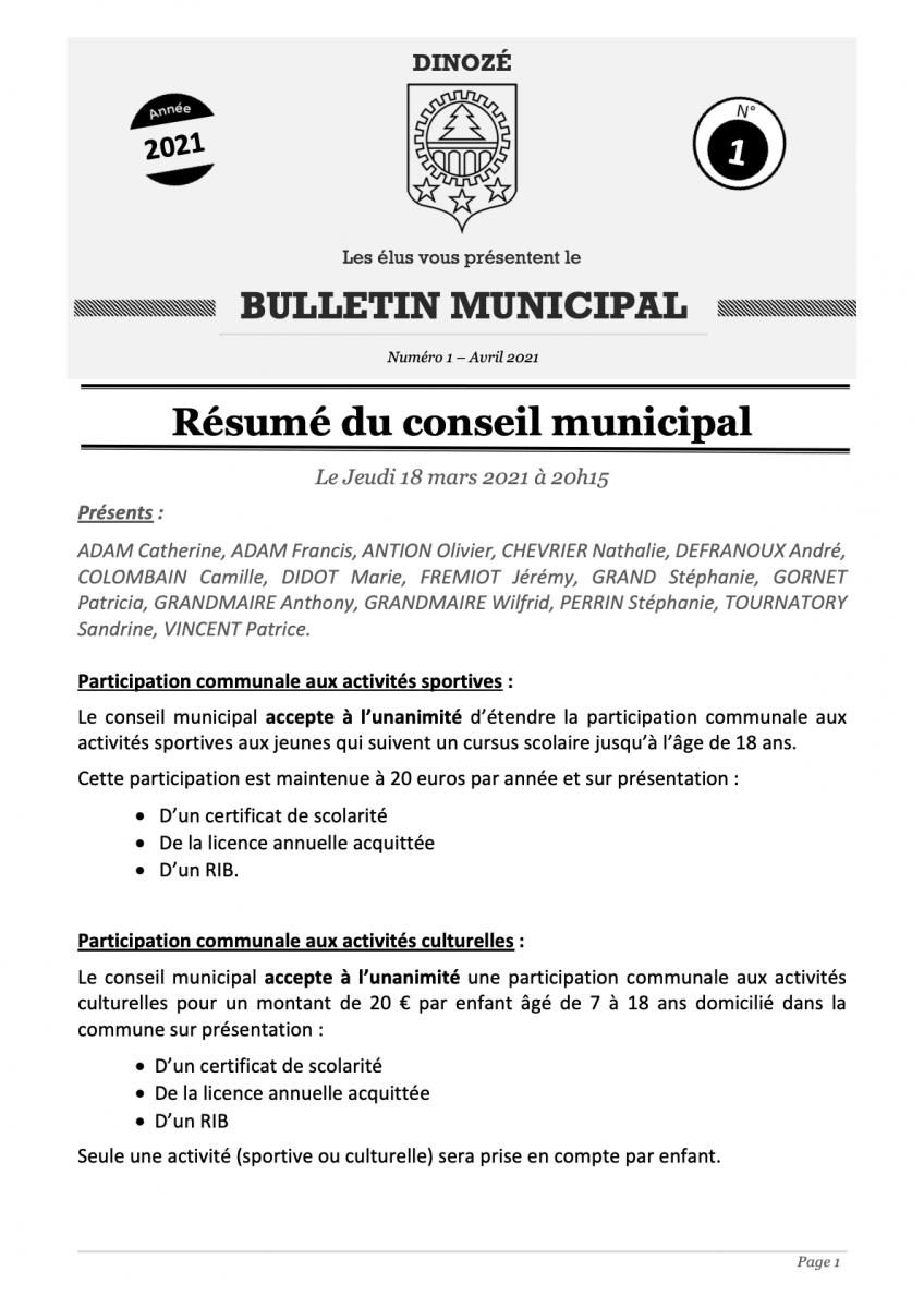 Bulletin 1 - 2021 (1)